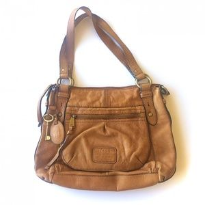 Fossil Key  1954 Vintage Key Leather Zip Purse Bag